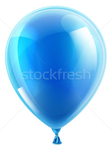 Blauw verjaardagsfeest ballon illustratie geïsoleerd verjaardag Stockfoto © Krisdog