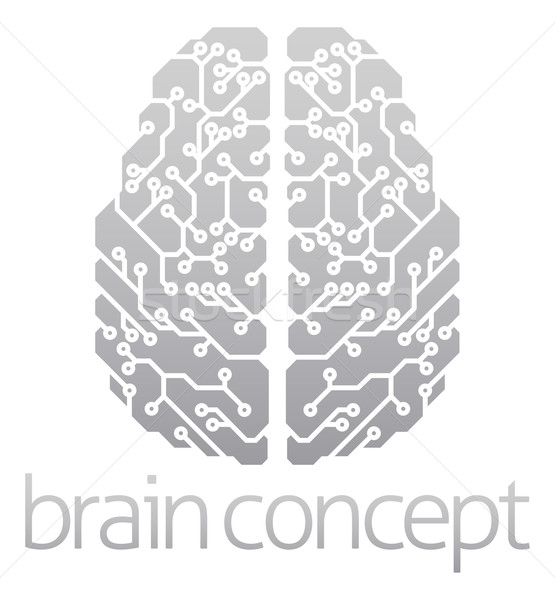Abstract electronic brain Stock photo © Krisdog