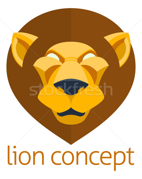 Lion Head Concept Stock photo © Krisdog