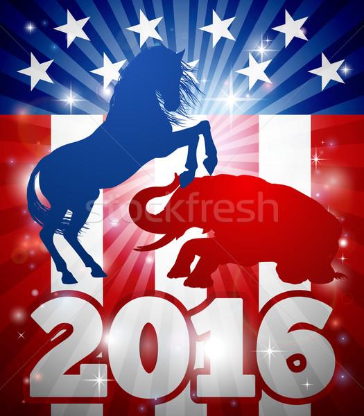Nyerő választás 2016 kabala állatok amerikai Stock fotó © Krisdog