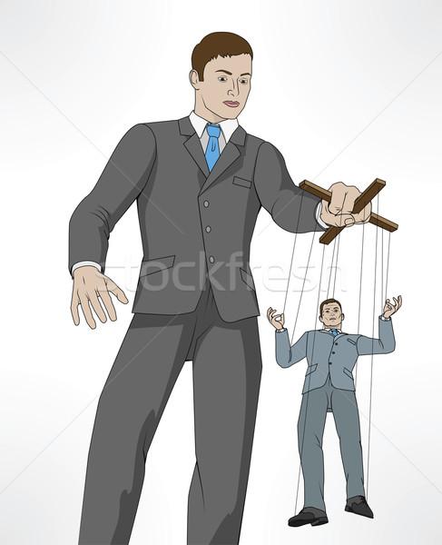Controlling business puppet concept Stock photo © Krisdog