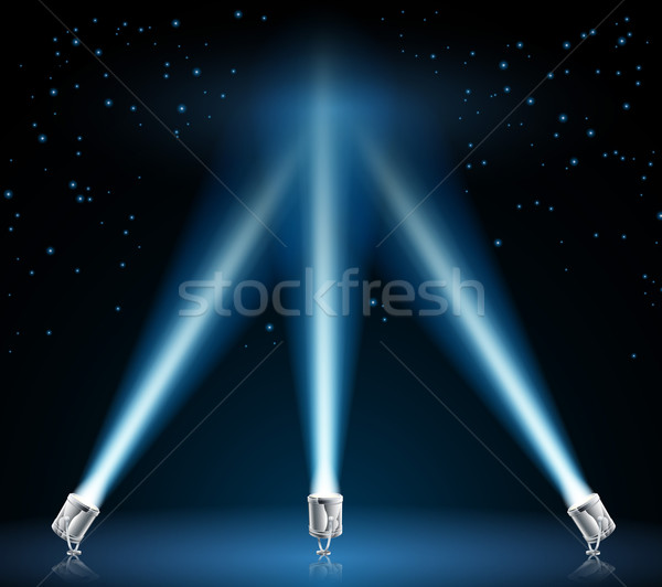 Searchlights or spotlights illustration Stock photo © Krisdog