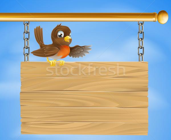 Stockfoto: Vergadering · oude · teken · vogel · zoals