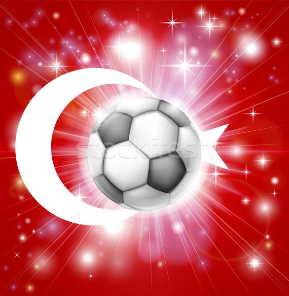 Turkey soccer flag Stock photo © Krisdog