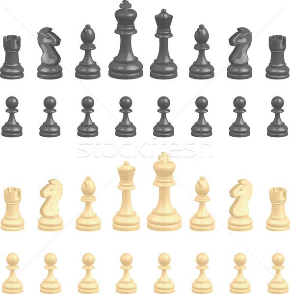 chess pieces Stock photo © Krisdog