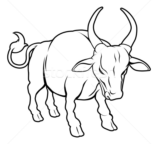 Stylised ox illustration Stock photo © Krisdog