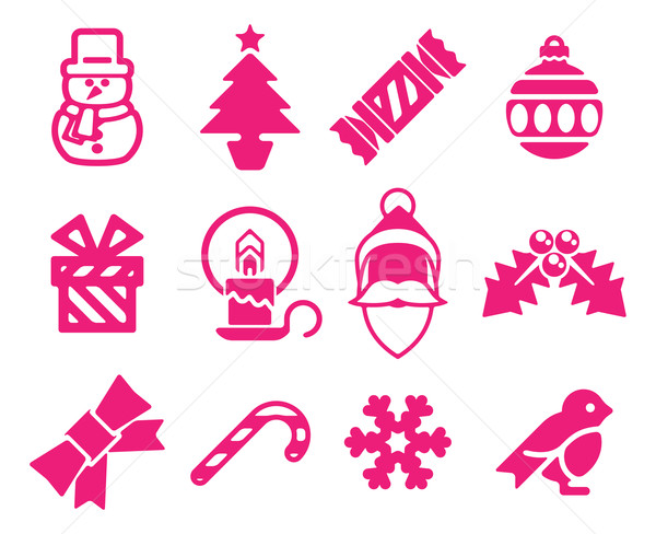 Stock photo: Christmas icon set
