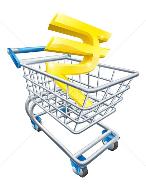 Rupee money trolley concept Stock photo © Krisdog