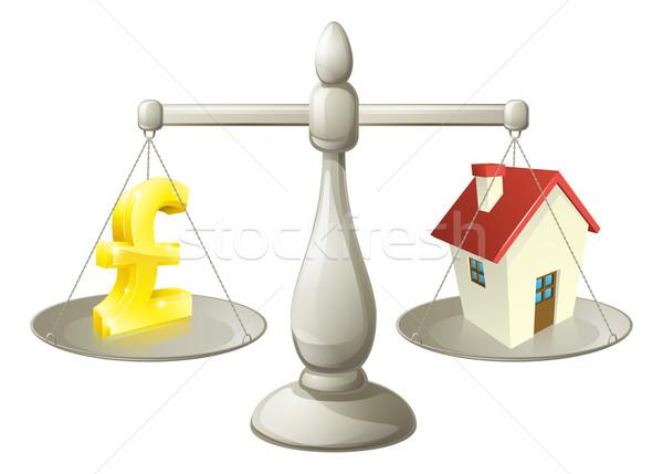 家 お金 ポンド スケール にログイン 1 ストックフォト © Krisdog