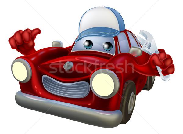 Car mechanic cartoon character Stock photo © Krisdog