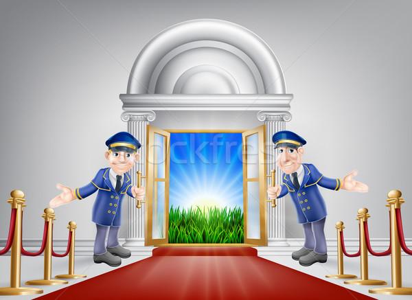 Fama tapete vermelho luxo entrada porta Foto stock © Krisdog