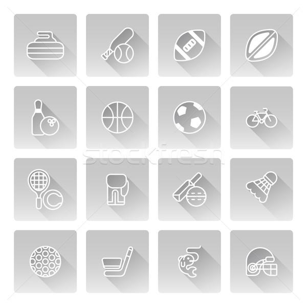 Sports icons Stock photo © Krisdog