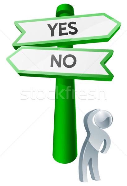 Yes or No concept Stock photo © Krisdog