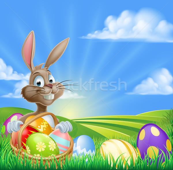 Cartoon Easter Bunny Scene Stock photo © Krisdog