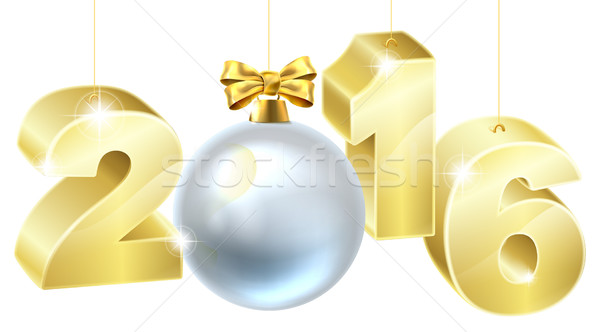 2016 New Year or Christmas Bauble Design Stock photo © Krisdog