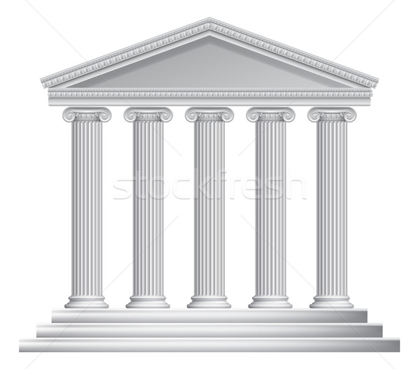 Greek or Roman Temple Columns Stock photo © Krisdog