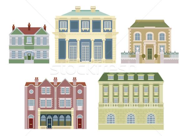 Luxury old fashioned houses buildings Stock photo © Krisdog