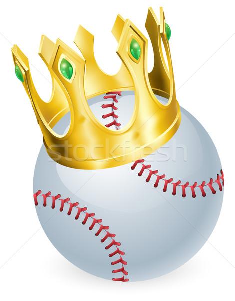 Rei beisebol bola ouro coroa Foto stock © Krisdog