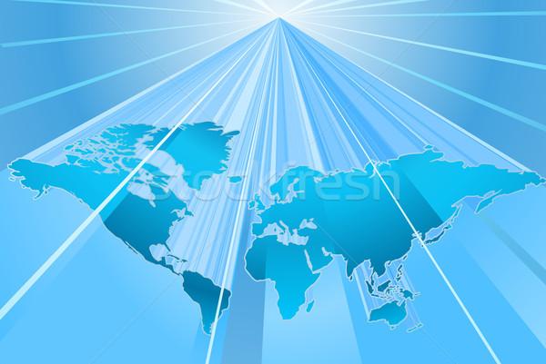 Globe Word Map of Earth Background Stock photo © Krisdog