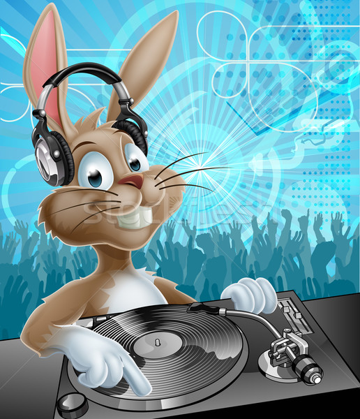 Easter Bunny Party DJ Stock photo © Krisdog
