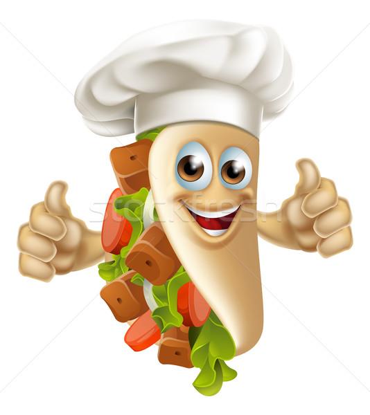Kebab Chef Man Stock photo © Krisdog