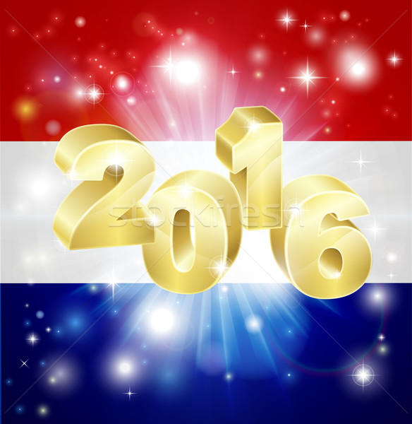 Dutch Flag 2016 Concept Stock photo © Krisdog