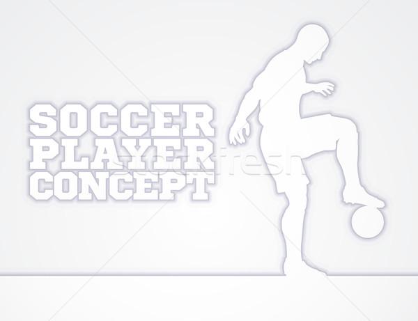Soccer Football Player Concept Silhouette Stock photo © Krisdog