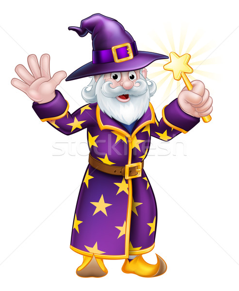 Wizard Cartoon Character Stock photo © Krisdog