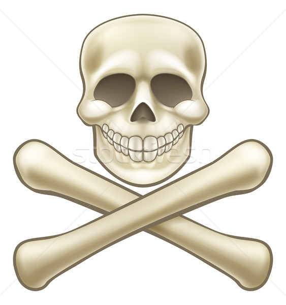 Pirate Skull and Crossbones Halloween Cartoon Stock photo © Krisdog
