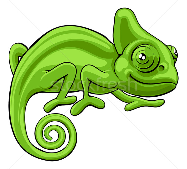 Chameleon Cartoon Character Stock photo © Krisdog