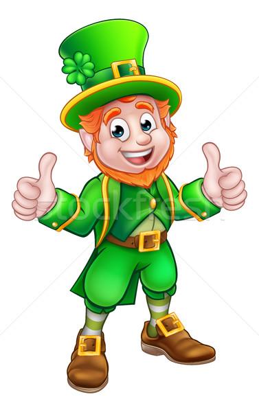 Cartoon Saint Patricks Day Leprechaun Stock photo © Krisdog