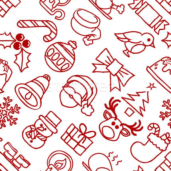 Christmas Pattern Seamless Background Stock photo © Krisdog