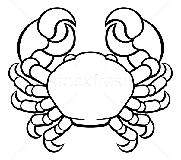 Crabe cancer horoscope zodiac signe astrologie Photo stock © Krisdog