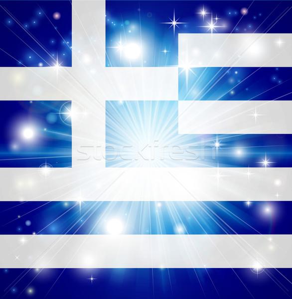 Greek flag background Stock photo © Krisdog