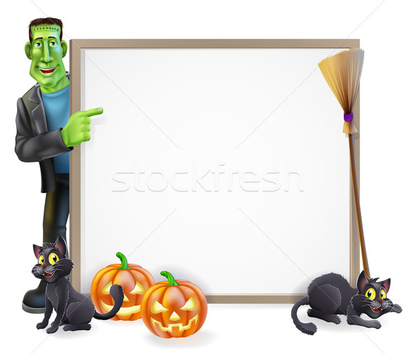 Halloween Frankenstein Sign Stock photo © Krisdog