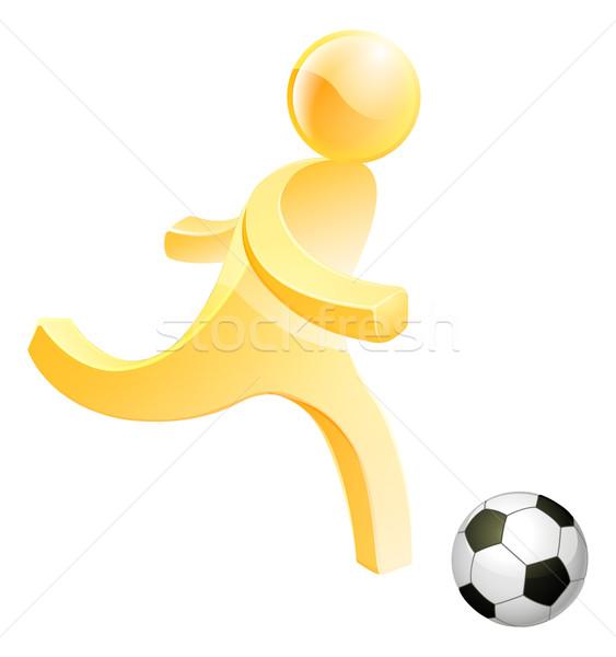 Person spielen Fußball Fußball Kick Fuß Stock foto © Krisdog