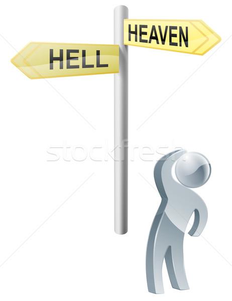 небо ад выбора иллюстрация человека Сток-фото © Krisdog