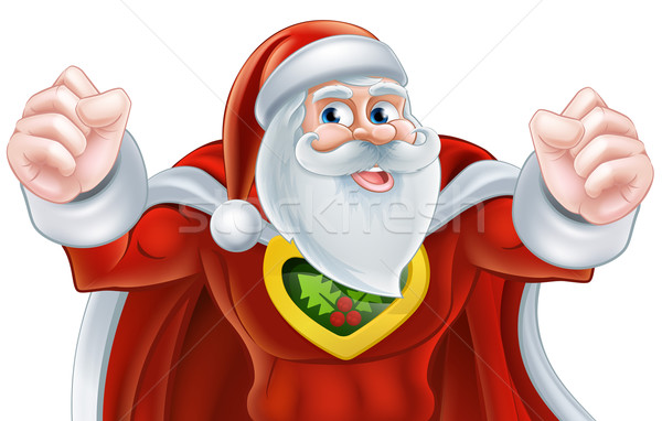Santa Super Hero Stock photo © Krisdog