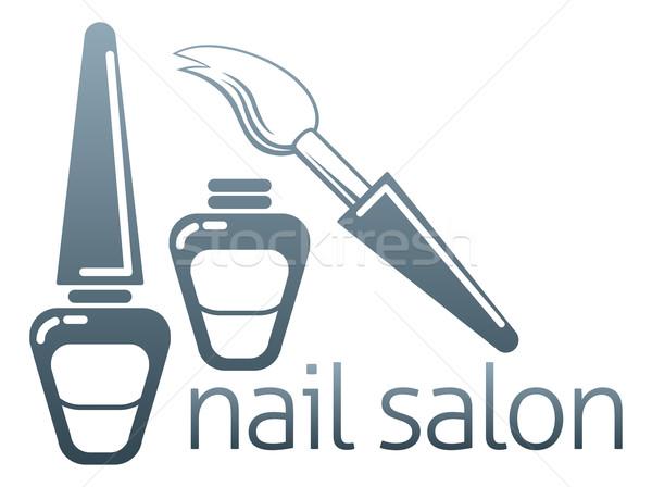 Nail salon concept Stock photo © Krisdog