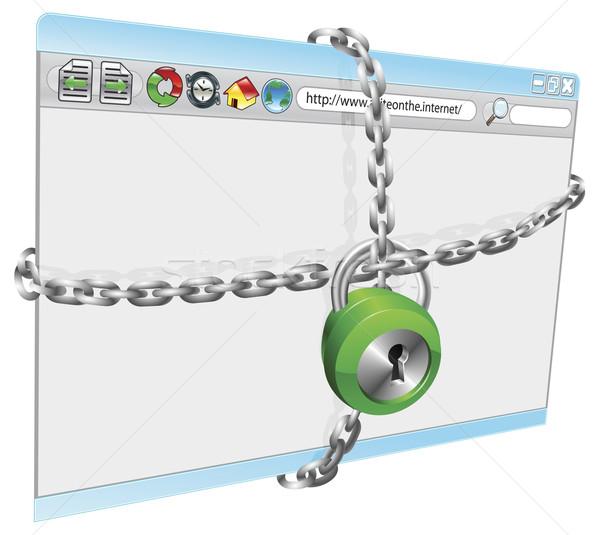 Internet sicurezza illustrazione sicurezza computer laptop Foto d'archivio © Krisdog