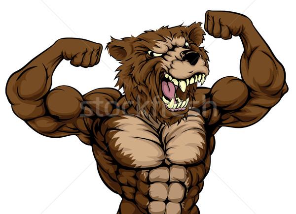 Grizzly Bear Animal Mascot Stock photo © Krisdog