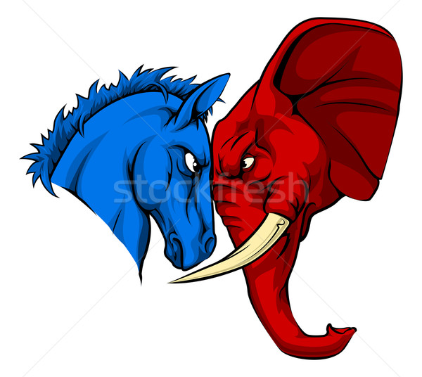 American Politics Republican Versus Democrat Stock photo © Krisdog