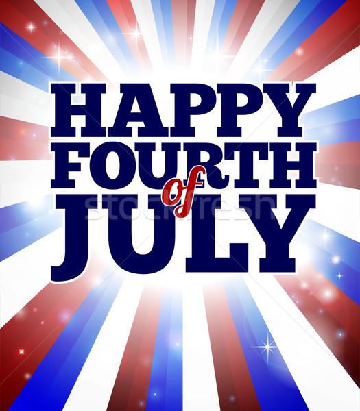 Boldog negyedik amerikai nap terv háttér Stock fotó © Krisdog
