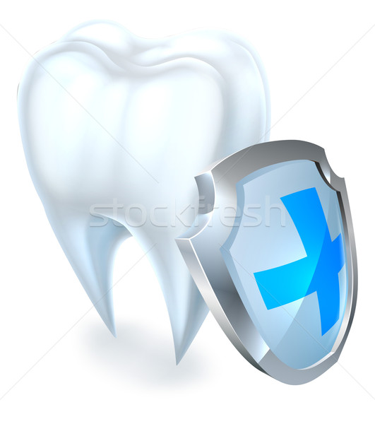 Tooth and Shield Protection Concept Stock photo © Krisdog