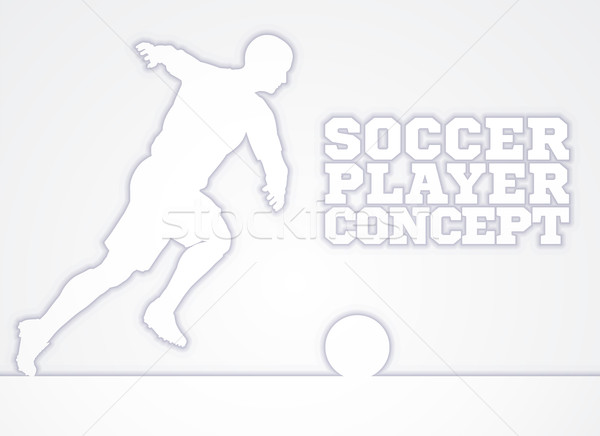 Soccer Player Silhouette Concept Stock photo © Krisdog
