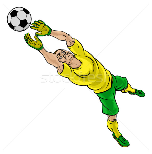Cartoon Soccer Football Goalkeeper Player Stock photo © Krisdog