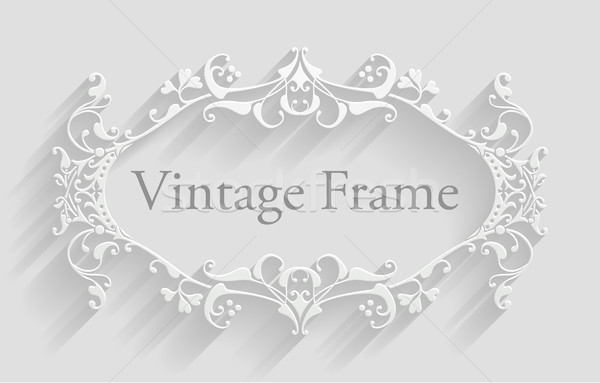 Vintage Victorian Frame Background Stock photo © Krisdog