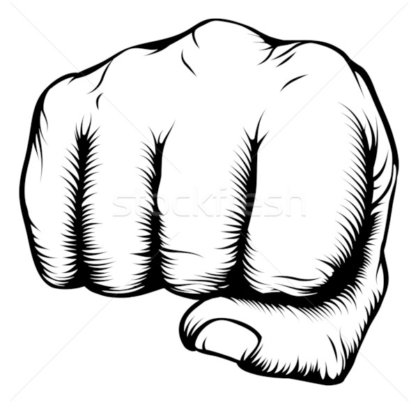 Stock photo: Hand in fist punching from front