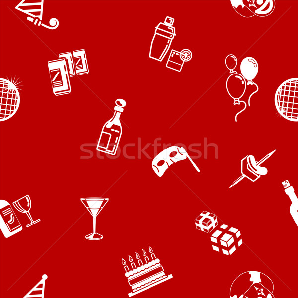 Seamless party background texture Stock photo © Krisdog