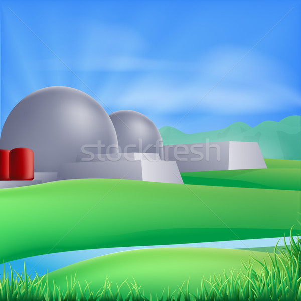 Nuclear power energy illustration Stock photo © Krisdog